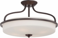 Savoy House 6-6225-4-13 Charlton English Bronze 21  Flush Ceiling Light Fixture