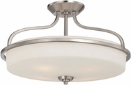 Savoy House 6-6225-4-SN Charlton Satin Nickel 21  Flush Mount Ceiling Light Fixture