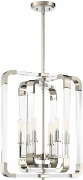 Savoy House 7-1661-6-109 Rotterdam Modern Polished Nickel Mini Lighting Chandelier