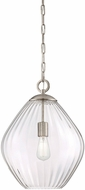 Savoy House 7-5010-1-SN Carnegie Contemporary Satin Nickel Hanging Pendant Lighting