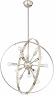 Savoy House 7-6098-12-109 Marly Modern Polished Nickel Chandelier Lamp