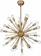 Savoy House 7-6099-24-322 Galea Modern Warm Brass Chandelier Light