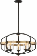 Savoy House 7-8041-5-79 Kirkland Modern English Bronze and Warm Brass Hanging Lamp