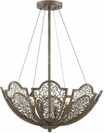 Savoy House 7-8060-4-45 Hartland Contemporary Aged Wood Hanging Light