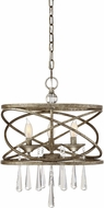 Savoy House 7-900-3-114 Trumbull Brittannia Gold Drum Drop Lighting Fixture