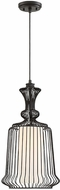 Savoy House 7-9014-1-89 Laporte Modern Matte Black Mini Drop Ceiling Light Fixture