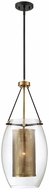 Savoy House 7-9063-1-95 Dunbar Contemporary Warm Brass w/ Bronze Accent Mini Pendant Lamp
