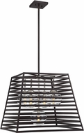 Savoy House 7-9170-5-108 Lakewood Modern Bronze w/ Stainless Steel Interior / Exterior Hanging Light