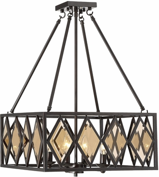 Savoy House 7-9302-4-13 Putman Contemporary English Bronze Pendant Lamp
