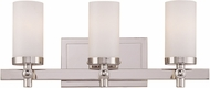 Savoy House 8-1028-3-109 Manhattan Polished Nickel 3-Light Lighting For Bathroom