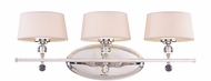 Savoy House 8-1041-3-109 Murren Polished Nickel Halogen 3-Light Vanity Light
