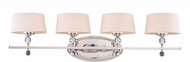 Savoy House 8-1041-4-109 Murren Polished Nickel Halogen 4-Light Bath Light Fixture