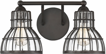 Savoy House 8-2102-2-13 Grant English Bronze 2-Light Bath Light Fixture