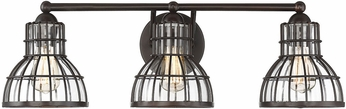 Savoy House 8-2102-3-13 Grant English Bronze 3-Light Bathroom Light Fixture