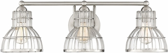 Savoy House 8-2102-3-SN Grant Satin Nickel 3-Light Bathroom Vanity Lighting
