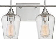 Savoy House 8-4030-2-11 Octave Modern Polished Chrome 2-Light Bathroom Vanity Light