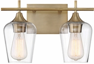 Savoy House 8-4030-2-322 Octave Modern Warm Brass 2-Light Lighting For Bathroom