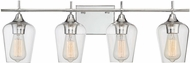 Savoy House 8-4030-4-11 Octave Modern Polished Chrome 4-Light Bath Sconce