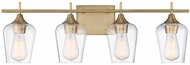 Savoy House 8-4030-4-322 Octave Modern Warm Brass 4-Light Vanity Lighting
