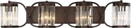 Savoy House 8-4063-4-28 Nora Burnished Bronze 4-Light Bathroom Vanity Light Fixture