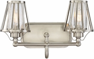 Savoy House 8-4078-2-SN Caroll Contemporary Satin Nickel 2-Light Bathroom Wall Sconce