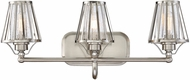 Savoy House 8-4078-3-SN Caroll Modern Satin Nickel 3-Light Bath Wall Sconce