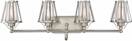 Savoy House 8-4078-4-SN Caroll Contemporary Satin Nickel 4-Light Bathroom Light Sconce