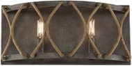 Savoy House 8-5302-2-32 Keating Contemporary Artisan Rust 2-Light Bath Wall Sconce