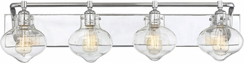 Savoy House 8-9400-4-11 Allman Modern Polished Chrome 4-Light Bath Lighting
