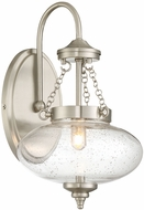 Savoy House 9-9041-1-SN Lowry Contemporary Satin Nickel Halogen Wall Sconce