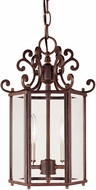 Savoy House KP-3-500-2-40 Liberty Walnut Patina 9.5  Foyer Lighting Fixture