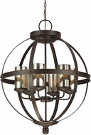 Seagull 3110406EN-715 Sfera Contemporary Autumn Bronze LED Chandelier Lamp