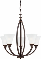 Seagull 3113205EN-715 Metcalf Autumn Bronze LED Chandelier Lighting