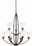Seagull 3113209EN-715 Metcalf Autumn Bronze LED Chandelier Lamp