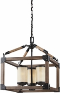 Seagull 3113303BLE-846 Dunning Stardust / Cerused Oak Fluorescent Mini Chandelier Lamp