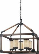 Seagull 3113305-846 Dunning Stardust / Cerused Oak Mini Chandelier Light