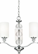 Seagull 3113403-05 Englehorn Chrome / Optic Crystal Hanging Chandelier