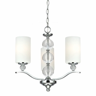 Seagull 3113403BLE-05 Englehorn Chrome / Optic Crystal Fluorescent Chandelier Light
