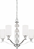 Seagull 3113405EN-05 Englehorn Chrome LED Chandelier Lighting