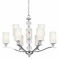 Seagull 3113409BLE-05 Englehorn Chrome / Optic Crystal Fluorescent Chandelier Light