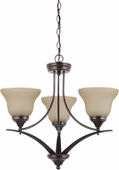Seagull 31173EN-710 Brockton Burnt Sienna LED Mini Ceiling Chandelier