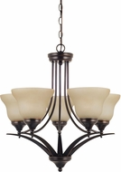 Seagull 31174EN-710 Brockton Burnt Sienna LED Hanging Chandelier