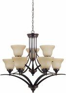 Seagull 31175EN-710 Brockton Burnt Sienna LED Chandelier Light