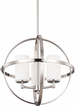 Seagull 3124603BLE-962 Alturas Contemporary Brushed Nickel Fluorescent Chandelier Lighting