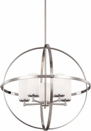 Seagull 3124605BLE-962 Alturas Contemporary Brushed Nickel Fluorescent Chandelier Lamp
