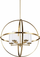 Seagull 3124605EN-848 Alturas Contemporary Satin Bronze LED Lighting Chandelier