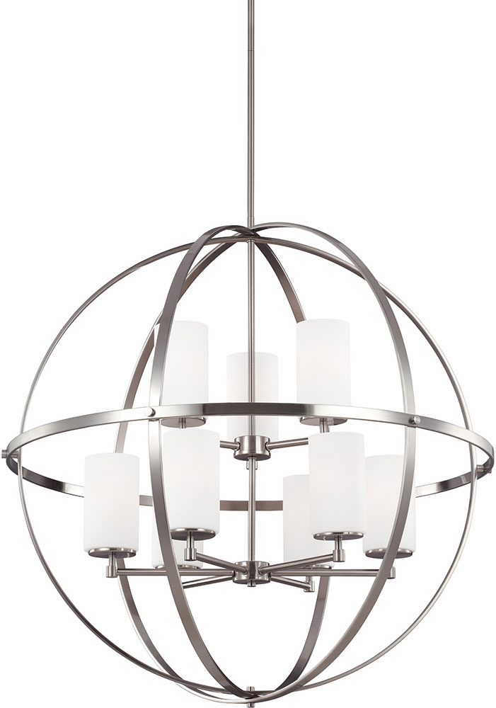 Seagull 3124609 962 alturas modern brushed nickel chandelier light seagull 3124609 962 alturas modern brushed nickel chandelier light loading zoom mozeypictures Image collections