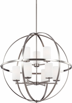 Seagull 3124609BLE-962 Alturas Contemporary Brushed Nickel Fluorescent Ceiling Chandelier