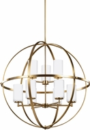 Seagull 3124609EN-848 Alturas Modern Satin Bronze LED Chandelier Lamp