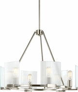 Seagull 3126106-962 Storey Contemporary Brushed Nickel Ceiling Chandelier